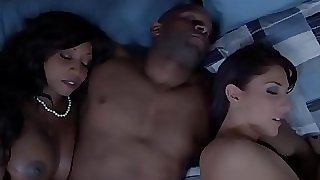 Ebony housewife and acquaintance cum swapping